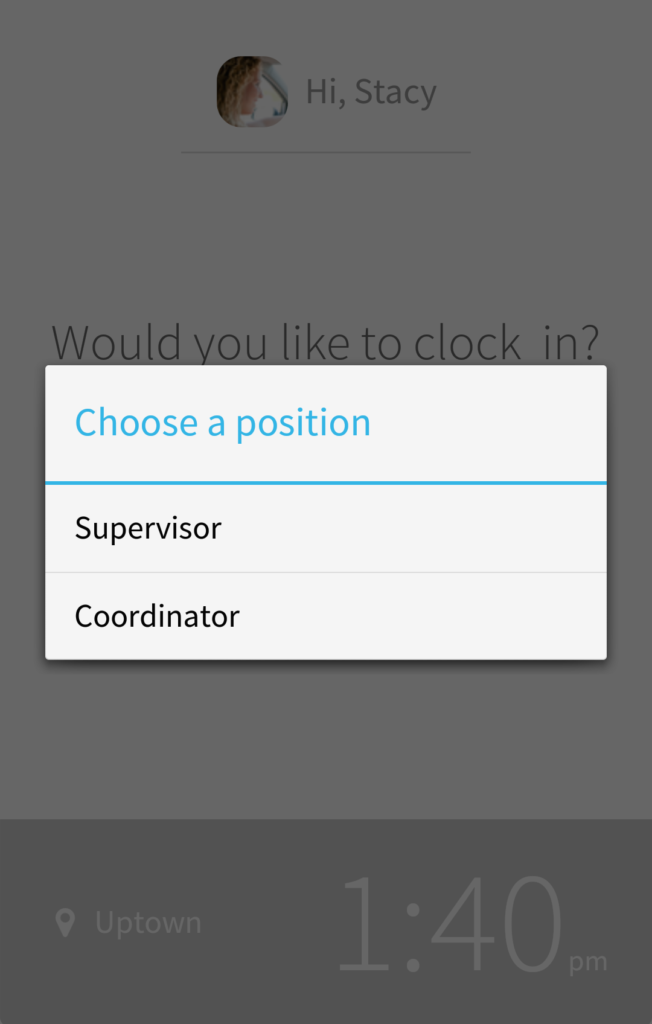 Choose a position