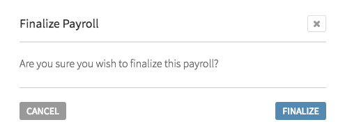 Finalize Payroll confirmation
