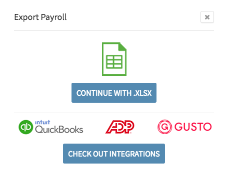 Export Payroll choices