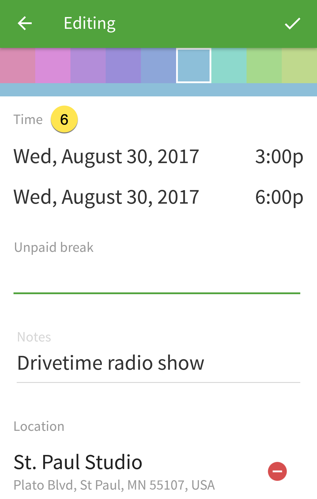 Shift date and time
