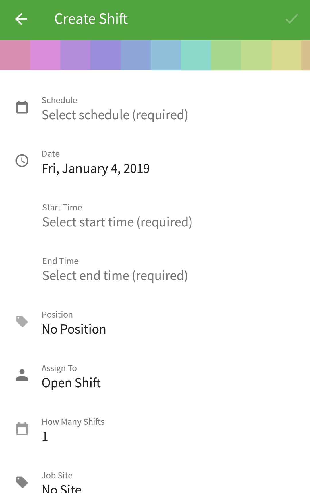 Scheduling A Shift When I Work Help Center