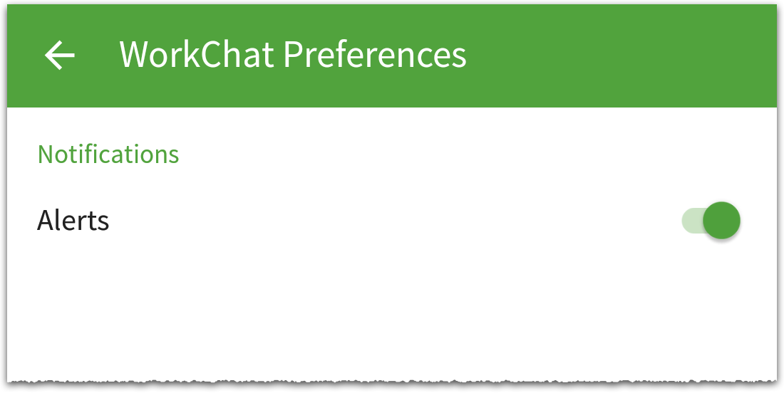 WorkChat notification preferences