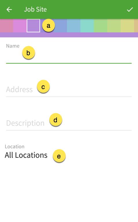 Job site details
