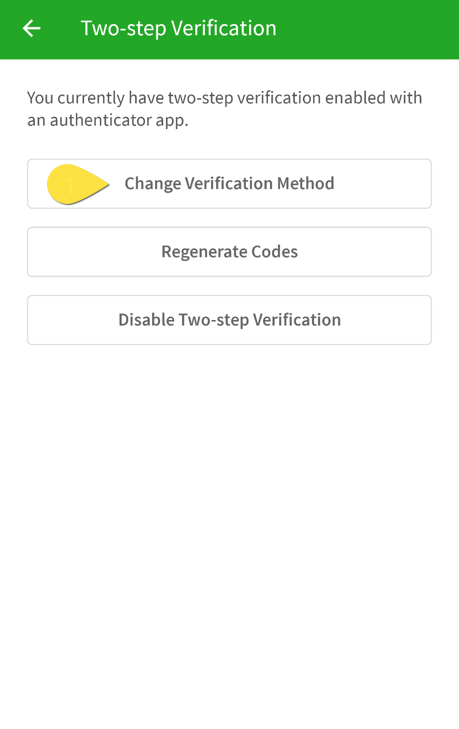 Change verification method