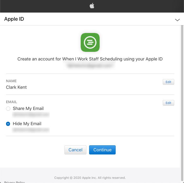 Apple id information