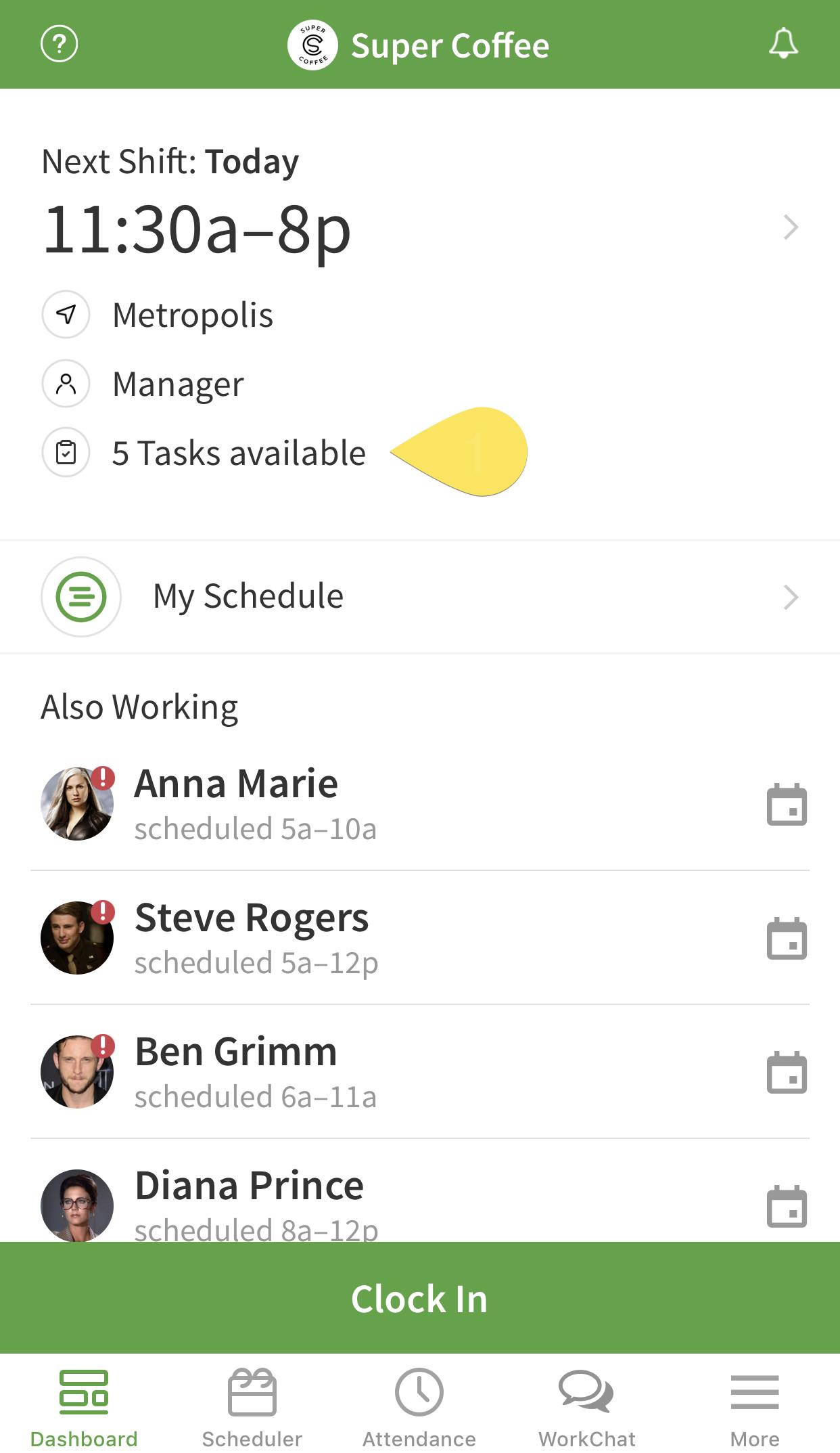 Tasks available