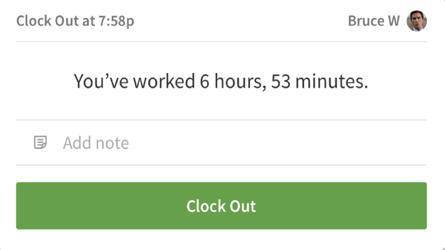 iOS terminal clock out