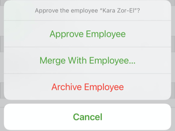 Approve pending employee options.