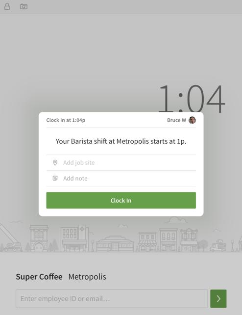 iOS terminal clock in