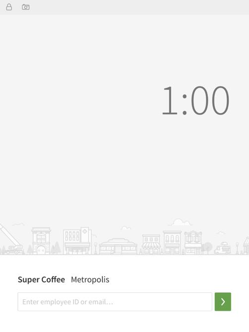 iOS terminal clock in home screen
