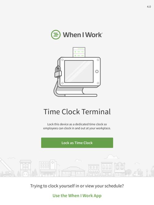 iOS terminal home page