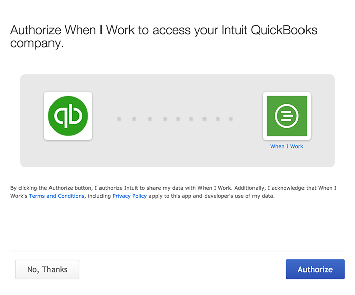 QuickBooks Online Integration – When I Work Help Center