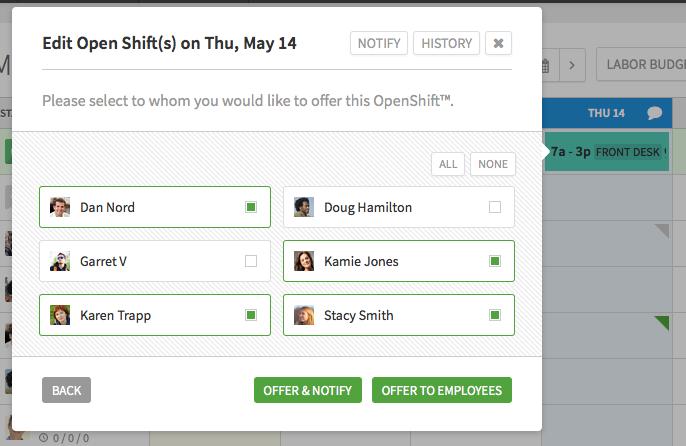 shift bid template