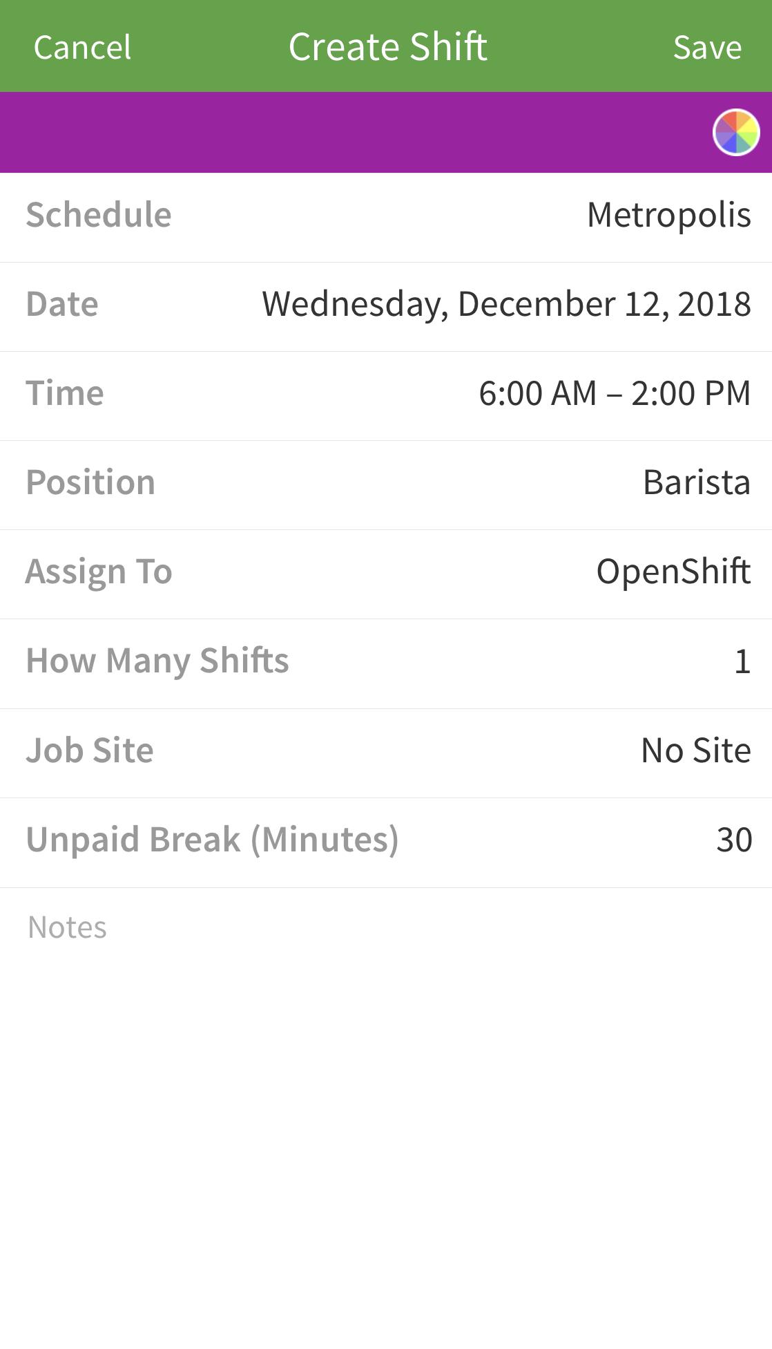 ios create shift