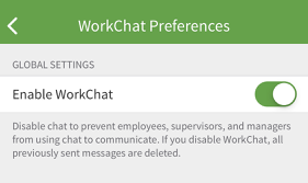 Enable WorkChat
