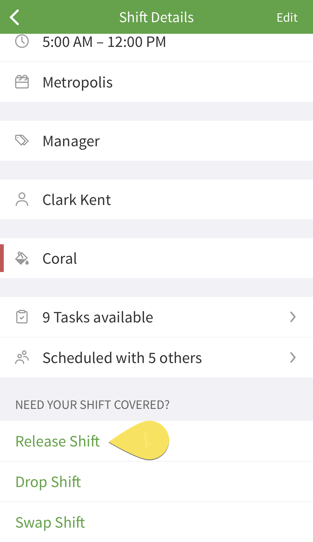 Shift release button