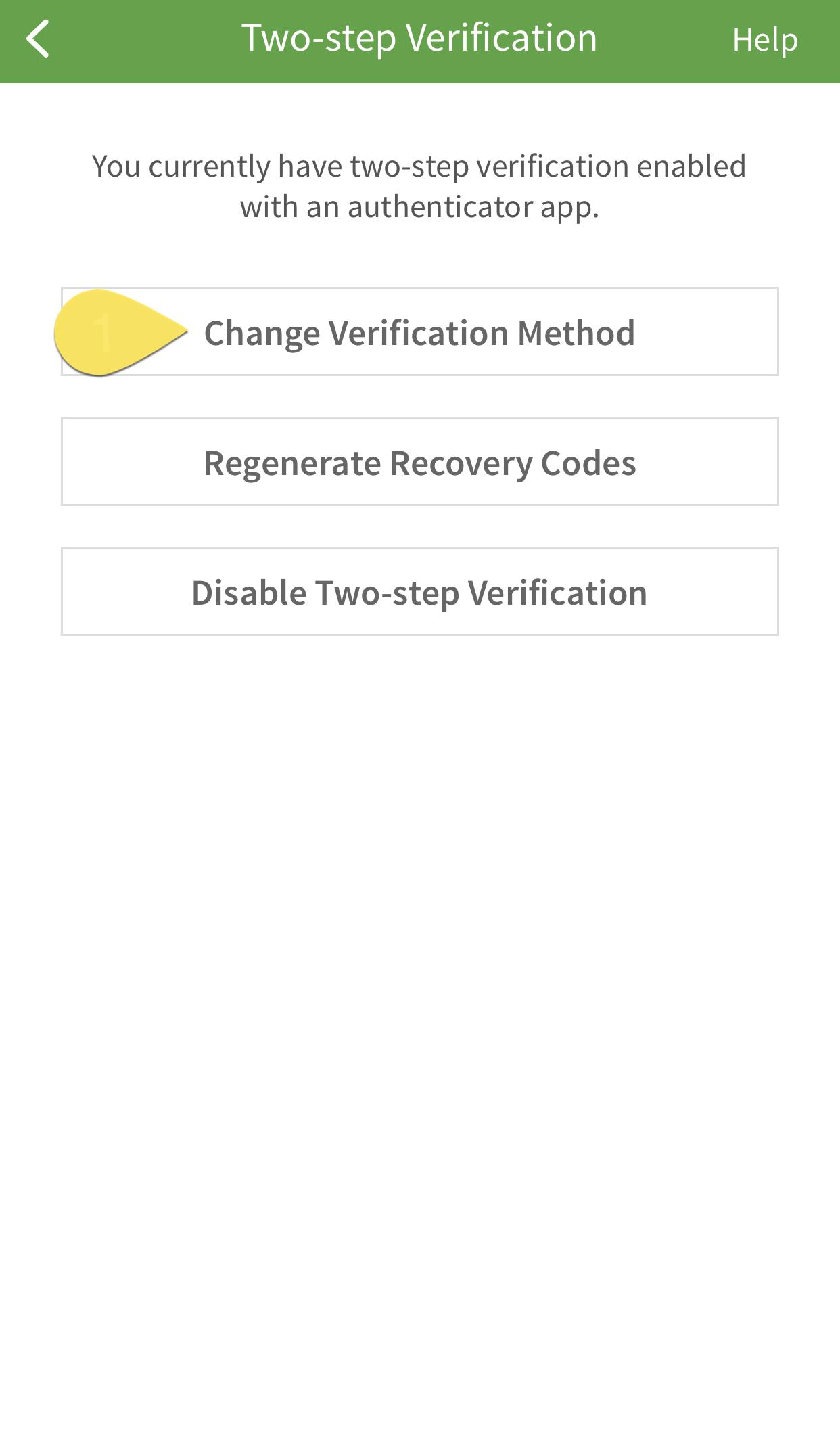 Change method button