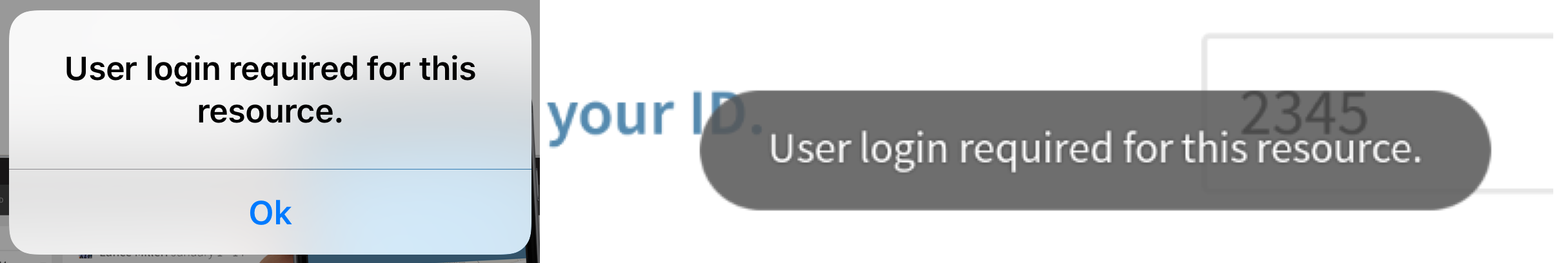 User login required for this resource