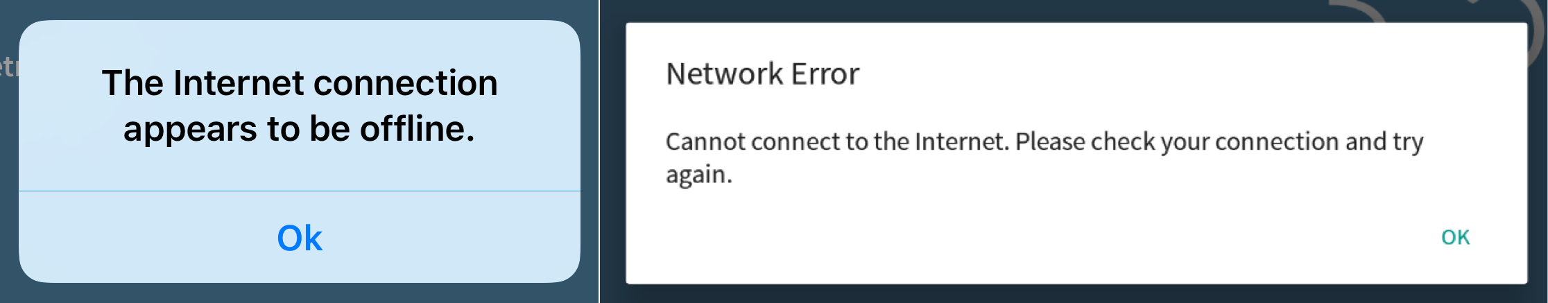 Network errors