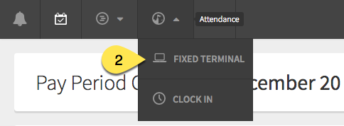 Fixed Terminal button