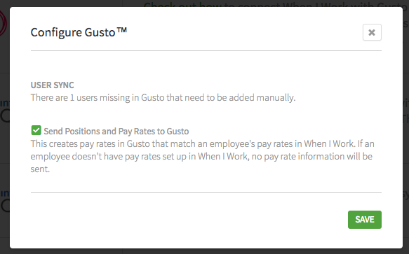 Users missing in Gusto