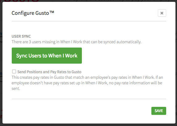 Gusto users missing in When I Work