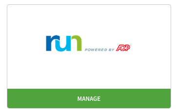 Manage adp run integration