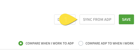 Sync from adp button