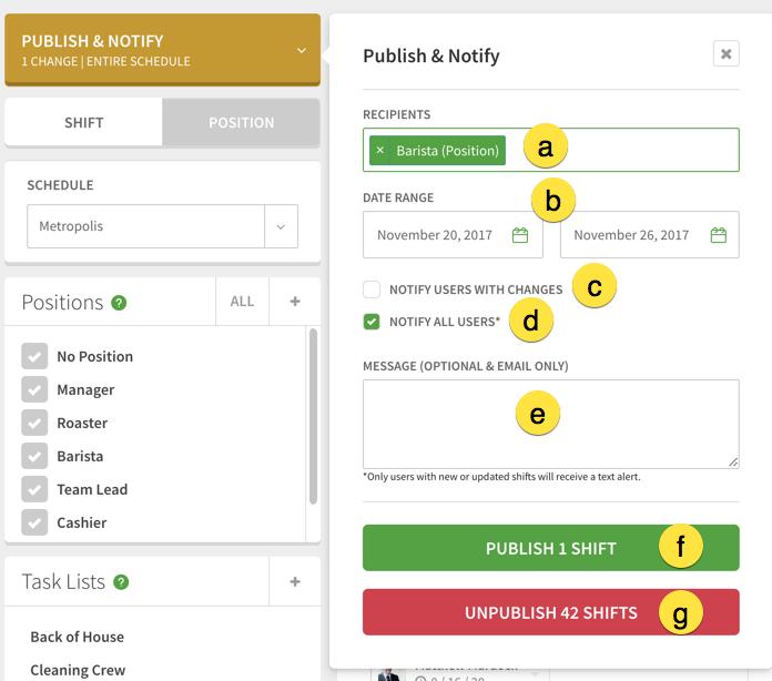 Advanced Publish & Notify widget
