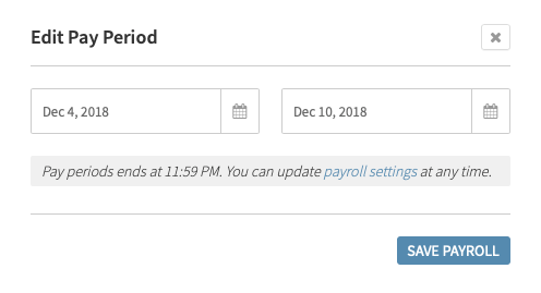 Edit Pay Period Prompt