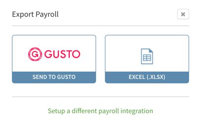 Export Payroll menu