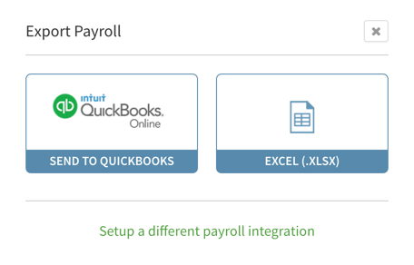 Export payroll to Quickbooks