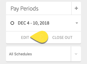 Pay Period Edit Callout
