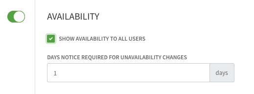 Availability toggle