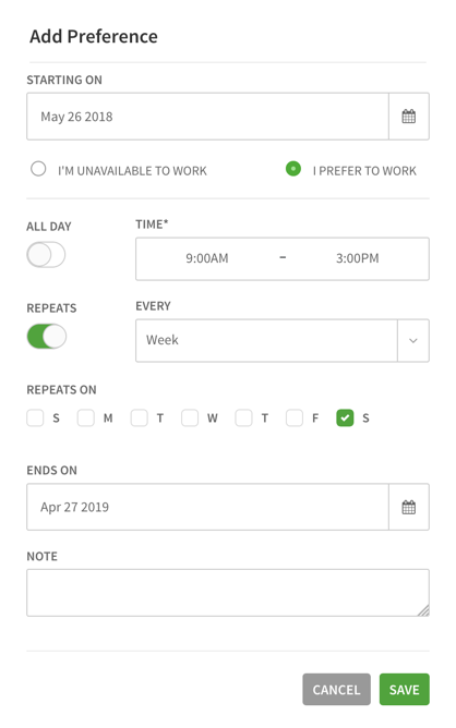 Setting Your Availability – When I Work Help Center