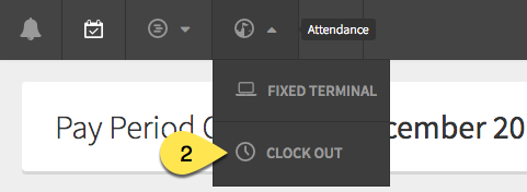 Clock Out button for management