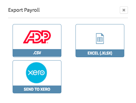 Export Payroll to Xero