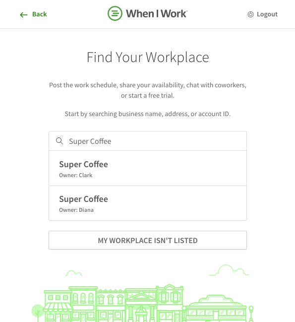 Find workplace search