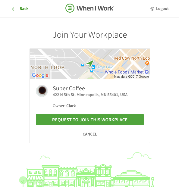 Request to join workplace