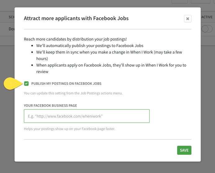 Hire Facebook Jobs Share