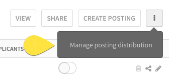Manage posting distribution