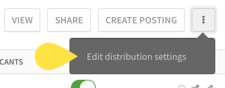 Edit distribution settings