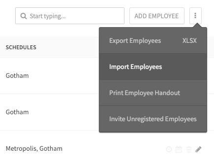 Import Employees