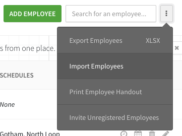 Import Employees