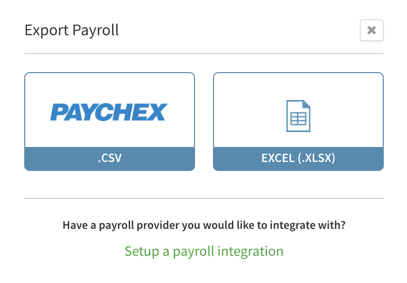 Export payroll to Paychex