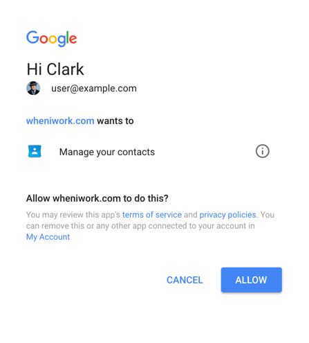 Allow Google login