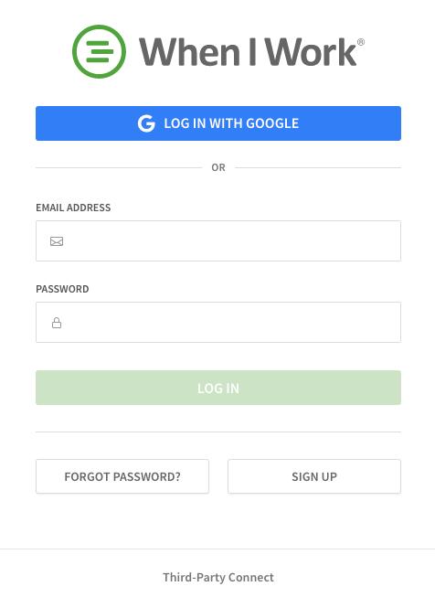 Resetting a Forgotten Password – When I Work Help Center