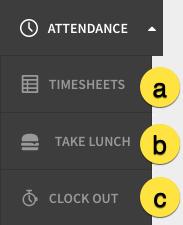 Attendance menu item