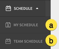 Schedule menu item