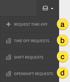 Requests menu